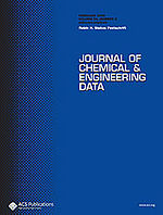 Journal Chemical and Engineering Data (2014) 59, pp 925-935